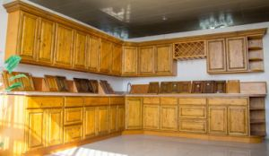 American Style Antique Wood Kitchen Cabinet pictures & photos