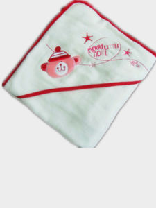 High Quality 100%Cotton Baby Terry Hooded Towel pictures & photos