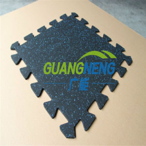 Gym Interlocking Rubber Tiles, Gym Antislip Rubber Mat, Anti-Slip Rubber Flooring pictures & photos
