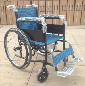 Pl-803b Manual Powder Coating Thicker Steel Frame Wheel Chairs pictures & photos
