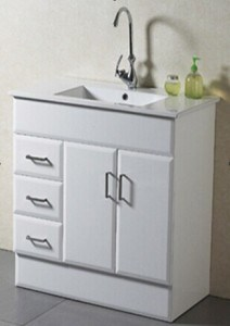 New Design Floor Mounted Solid Bathroom Vanity Cabinet (AB-90) pictures & photos