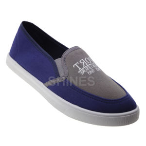 Canvas Injection Slip on Shoes for Men pictures & photos