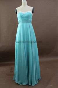 High Quality Latest Fashion Cheap Bridesmaid Dresses with Lace Bodice pictures & photos