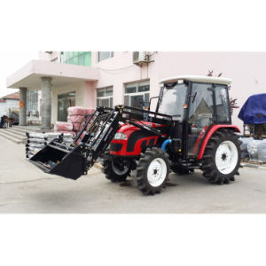 50HP 55HP 4WD Farm Wheel Tractor with Front End Loader pictures & photos