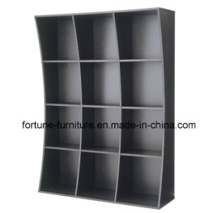 Modern Wooden Black Color Bookcase (4X3) pictures & photos