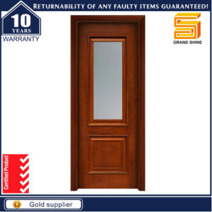 Cheap Wooden Interior Door with Glass Designs pictures & photos