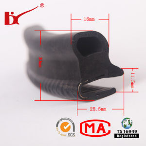 Car Accessory EPDM Extruded Rubber Door Weatherstripping Profile pictures & photos