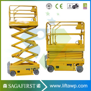3m 4m Semi Electric Mobile Small Indoor Mini Scissor Lift pictures & photos
