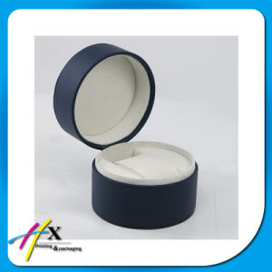 Leather PVC Watch Packaging Gift Round Box with Button, Zipper pictures & photos