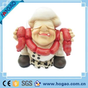 OEM Resin Sausage Chef Statue pictures & photos