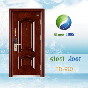 China Single Steel Security Door Entrance Door Metal Door Steel Door (FD-910) pictures & photos