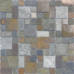 Rusty Slate Mosaic, Mosaic Tile, White Marble Tile, Glass Mosaic pictures & photos