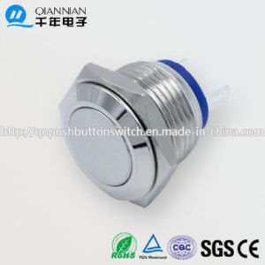 Qn16-A4 16mm Momentary Flat Head Pin Terminal Metal Push Button Switch pictures & photos