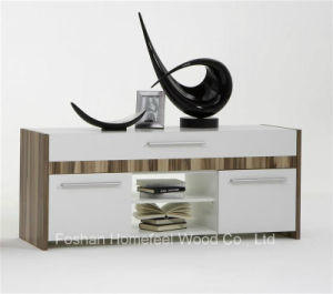 Wooden White Elegant Designs TV Cabinet (HF-EY08021) pictures & photos