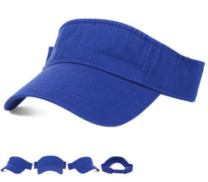 Casual Sport Pink Brush Cotton Twill Sun Visor Cap with Your Design Logo pictures & photos