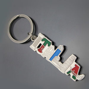 Italia Letter Gift Metal Keychain Tour Product Souvenir Gift (1423)