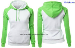 High-End Contrast Color Womens Hoodie with Custom Logo pictures & photos