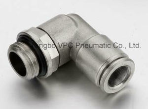 Brass Nickel Plated Male Taper Elbows Pneumatic Fitting pictures & photos