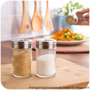 Free Sample 100ml Salt Glass Jar with Stainless Steel Lid pictures & photos