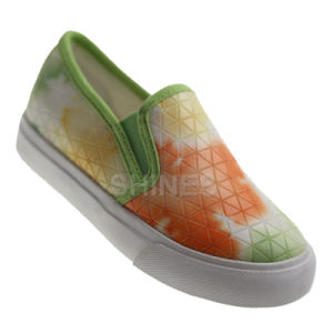 PU Vulcanized Shoes with Print for Girls pictures & photos