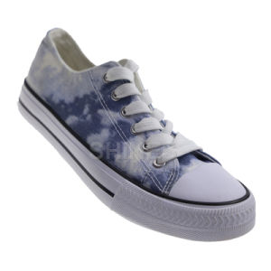 Printed Canvas Lace up Vulcanized Shoes for Women