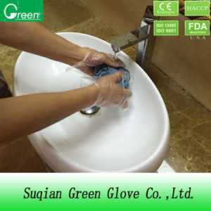 Clear Cheap CPE Cleaning Gloves pictures & photos
