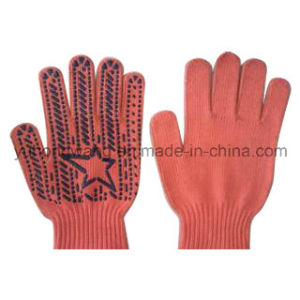 Warm Knitting Acrylic DOT Plastic Gloves & Mittens pictures & photos
