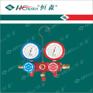 """Aluminium Manifold Gauge Sets with 36"""" Charging Hose, Shock-Proof, Brass Valve Body, Customized Types pictures & photos"""