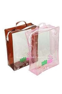 PVC Handle Bag for Pakcing Gift Skin Care and Cosmetic pictures & photos