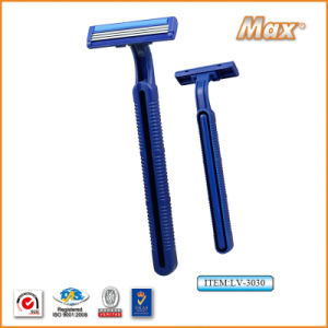 Platinum Coated Stainless Steel Triple Blade Disposable Shaving Razor (LV-3030) pictures & photos