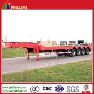 60ton Heavy Lowbed Cargo Truck Semi Trailer for Excavators pictures & photos