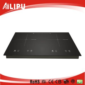 Touch Screen Electric Hot Plate Double Flame Induction Cookers pictures & photos