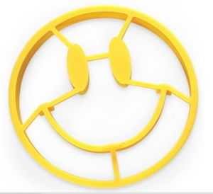Smiley Face Shape Cooking Silicone Fried Egg Mould