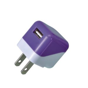 Us Plug 5V 1A Double Colorful Square USB Travel Charger pictures & photos