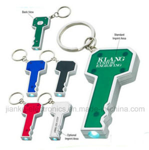 New Product LED Flashing Key Chain with Logo Print (4091) pictures & photos