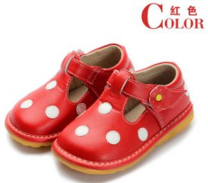 Baby Girl Squeaky Shoes Red with White Polka Dots Different Colors