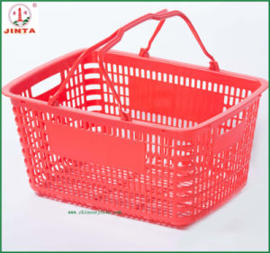 Flat Bottom Plastic Shopping Basket Use in Convenient Shop (JT-G09) pictures & photos