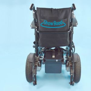 Showgood Comfortable High-Storage Batteries Folding Electric Wheelchair
