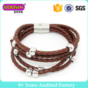New Design Colors Leather Bracelet for Men pictures & photos