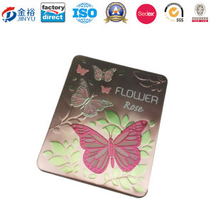 Embossing Metal Tin Container for Perfume Cosmetic Packaging pictures & photos
