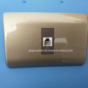 Wall Plate with 6p4c Telephone Socket Switch (W-095) pictures & photos