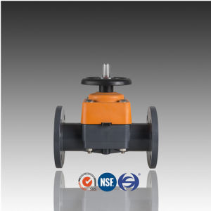 DIN ASTM JIS Standard PVC Diaphgram Valve with Flange pictures & photos