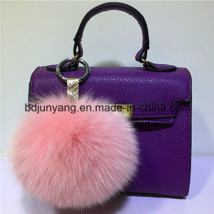 Fox Fur POM POM Fur Ball Keychain pictures & photos