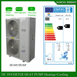 Minus 25c Winter Weather Air Source 12kw 220V Floor Heating Monoblock Heat Pump Evi pictures & photos