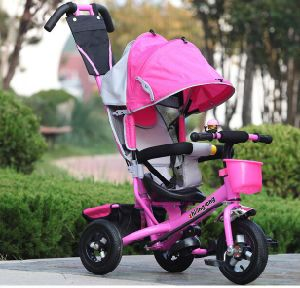 China Good Quality 4 in 1 Pedal Trike, Child Push Tricycle in Pink pictures & photos