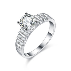 Korean Style Rhodium Plating Fashion Wedding Jewelry Ring pictures & photos