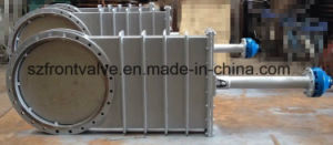 Flanged End Non Rising Stem Gear Operated Knife Gate Valve pictures & photos