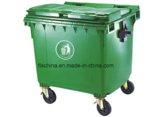 100% HDPE Material 1100L Waste Bin (match with garbage truck) pictures & photos