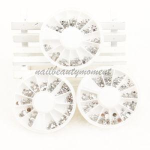Silver Nail Glitter Rhinestone in Wheel Nail Art Gem (D27)