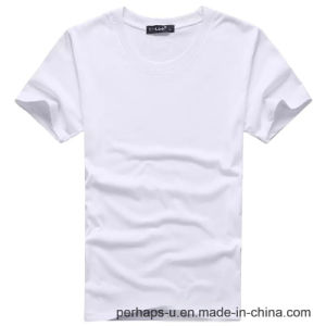 Wholesale Pure Color Cotton T-Shirt with Custom Logo pictures & photos